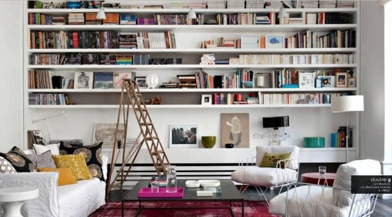 duvardan duvara raflar ile evinize çağdaş bir görünüm kazandırın (10)