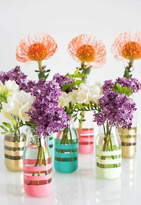 Evlerinize Baharı Erken Getirecek 16 Kendin Yap Vazo Fikirleri (10)