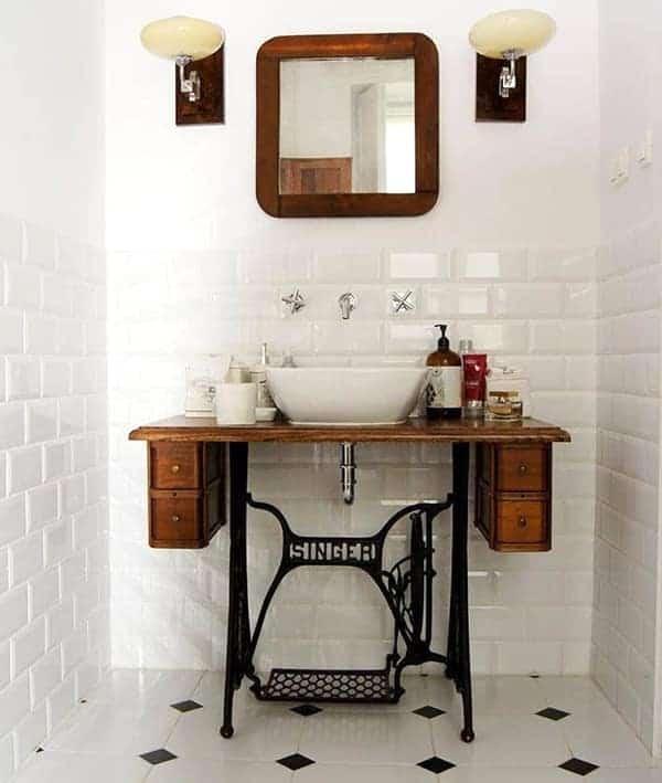 Sahip Olduğunuz Eşki Şeylerin Geri Dönüşümü İle Banyo Tasarımı Fikirleri (13)