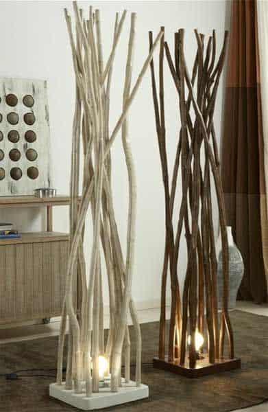 Ağaç Parçaları İle 30 Dekorasyon Fikri (2)