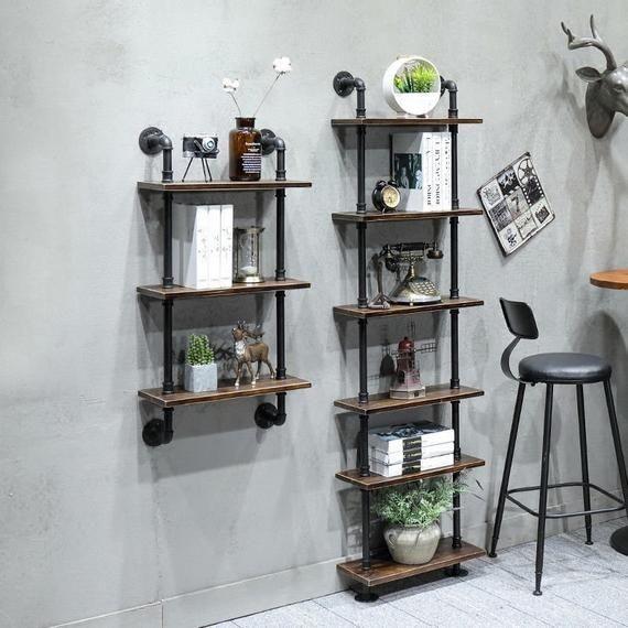 endüstriyel boru raf ayaklı duvar rafı örnekleri (2)