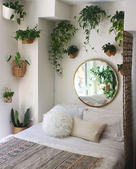 Yatak Odaları Icin Yuvarlak Ayna Dekorasyonu Fikirleri (12)
