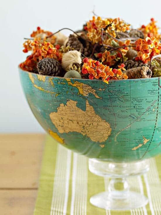 Dünya Küresi Vazo