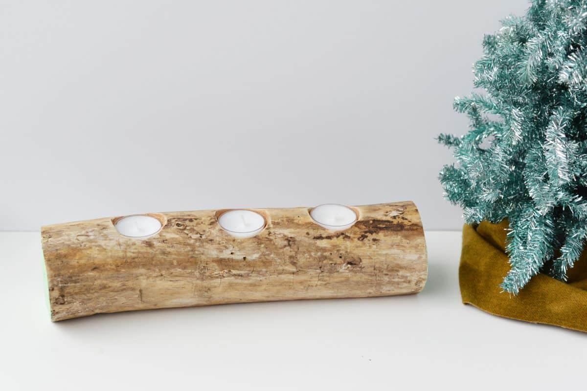 Modern Tasarım Ağaç Dalı Mumluk Nasıl Yapılır (3)