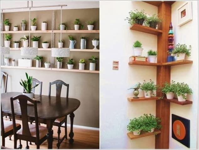 İç Mekanlar İçin 25 Farklı Bitki Sergileme Fikirleri (10)