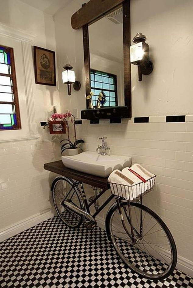 Sahip Olduğunuz Eşki Şeylerin Geri Dönüşümü İle Banyo Tasarımı Fikirleri (5)