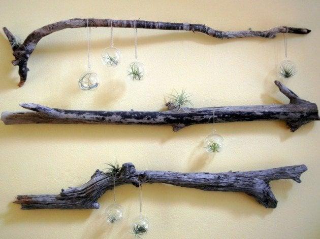 Ağaç Parçaları İle 30 Dekorasyon Fikri (12)