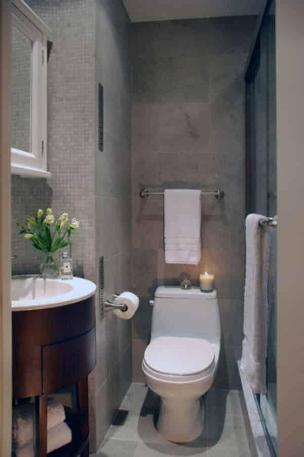 küçük banyolarda dekorasyonu