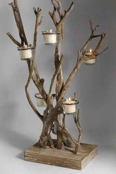 tealight mumlarla ev dekorasyonu