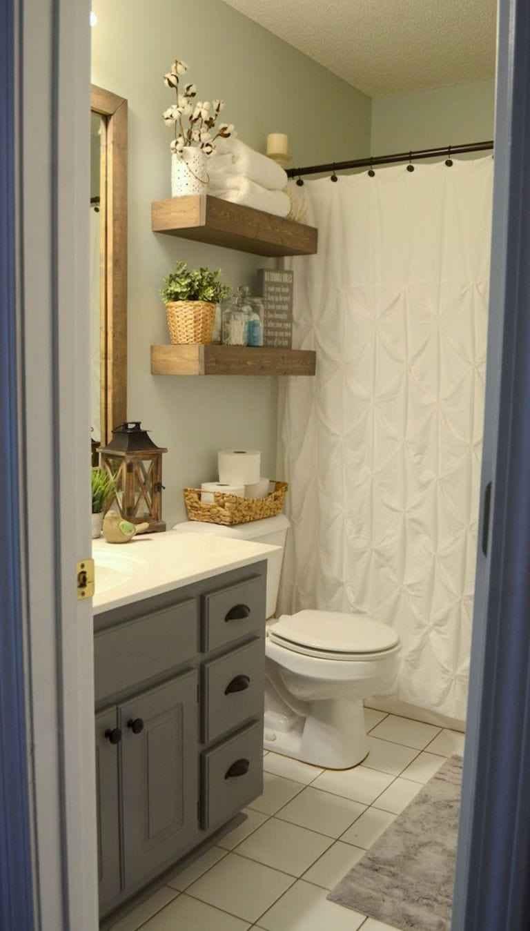 Banyolarınız için raf ve dekorasyon fikirleri