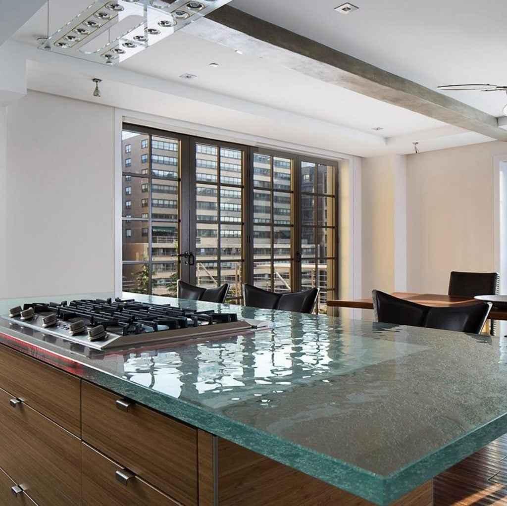 cam mutfak tezgahı çeşidi