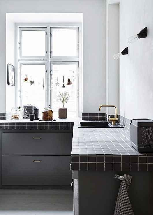 seramik mutfak tezgahı örneği