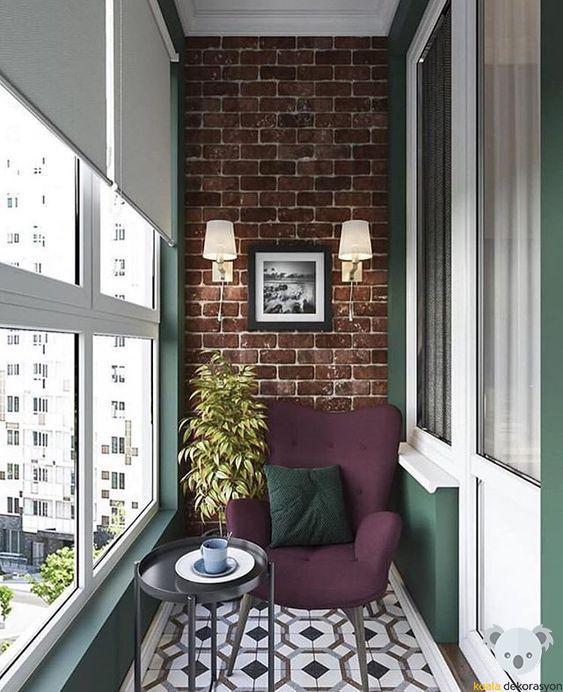 Balkon Duvar Dekorasyonu